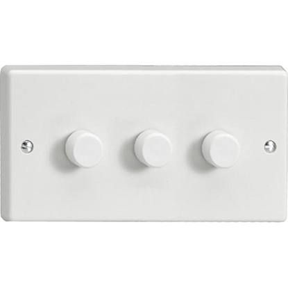 Picture of V-PRO 3 Gang 2-Way Push-On/ Off Rotary LED Dimmer