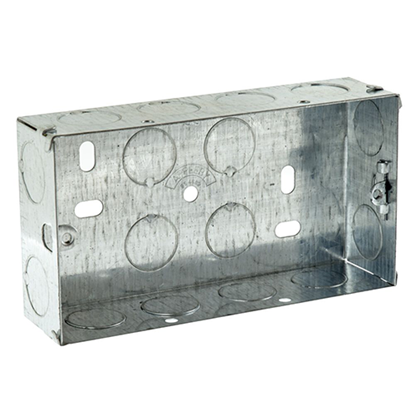 Picture of Flush Metal Back Box 2 Gang 47mm