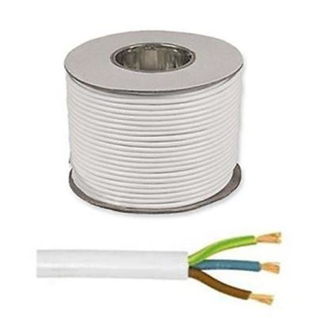 Picture for category White Three Core Flexible Cable
