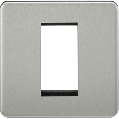 Picture of 1 Gang Modular Faceplate - Brushed Chrome