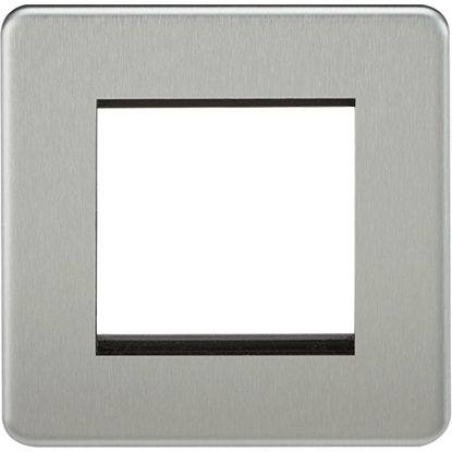 Picture of 2 Gang Modular Faceplate - Brushed Chrome