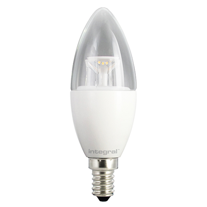 Picture of 5.6W-40W Dimmable Clear Candle E14